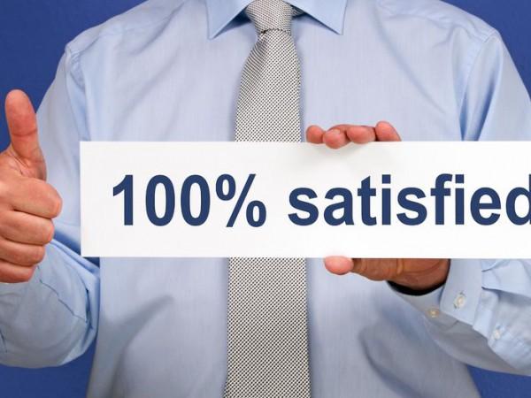 100 % satified